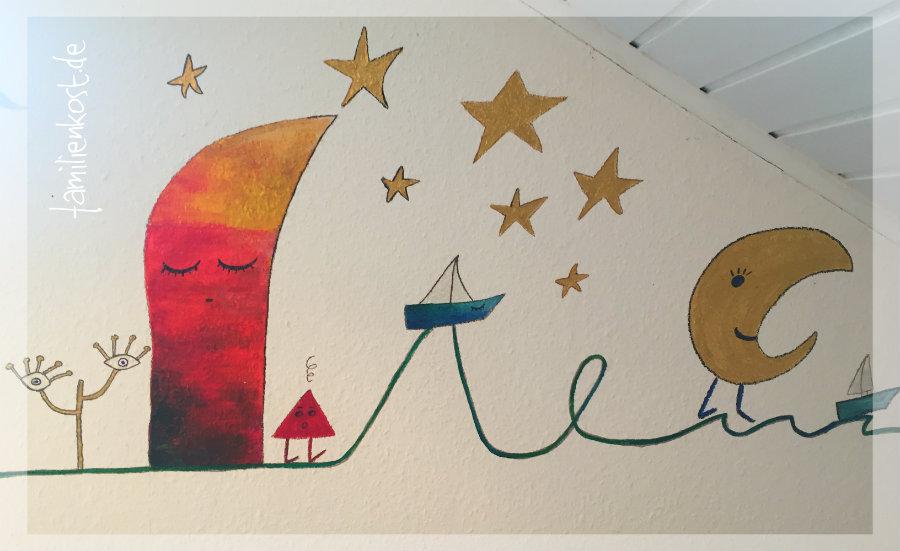 Design della parete della stanza dei bambini: pittura ...